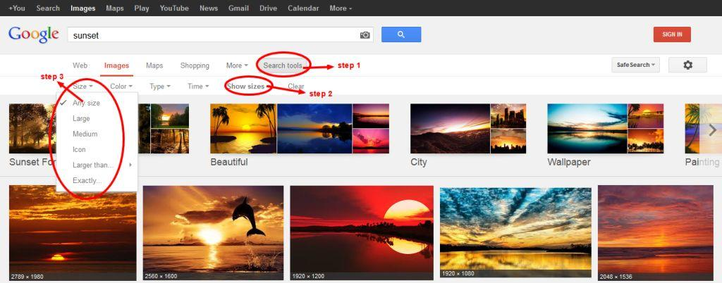 Search Images on google using Advanced image search