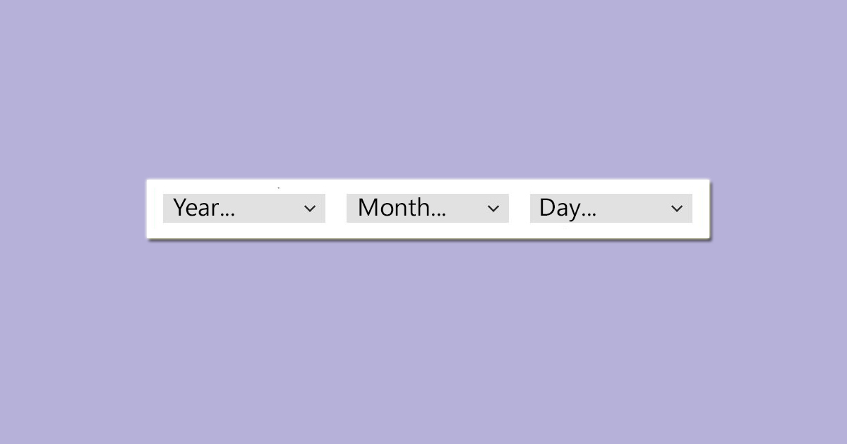 month year day