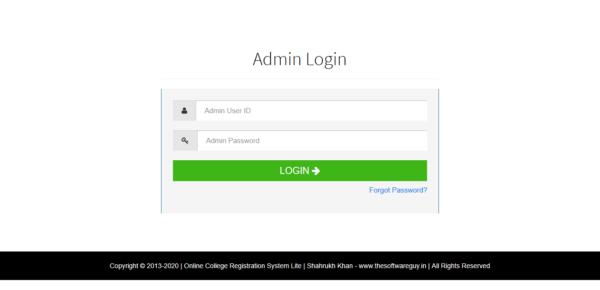 College - Admin Login