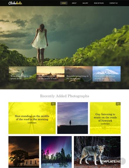 Clickaholic-HTML5-CSS3-Website