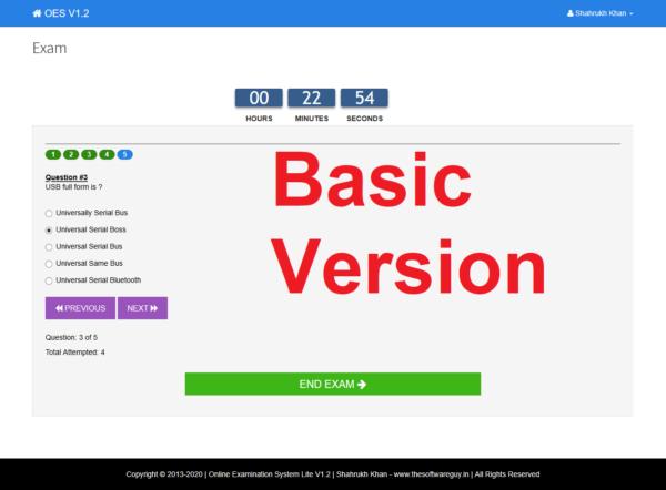 Exam - Basic Version Page