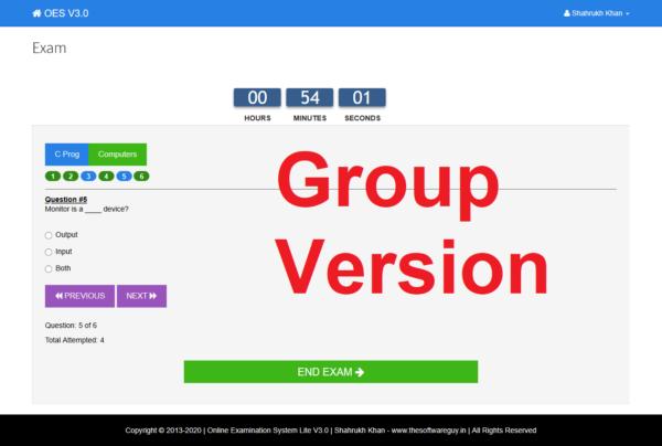 Exam - Group Version Page