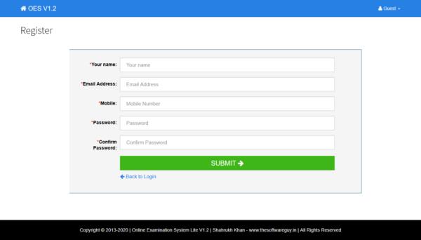 Exam - User Register