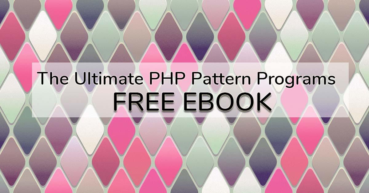 PHP pattern programs ebook